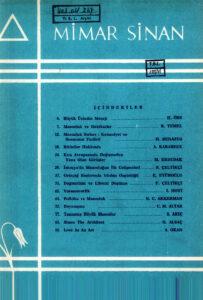 Mimar Sinan Dergisi (7)