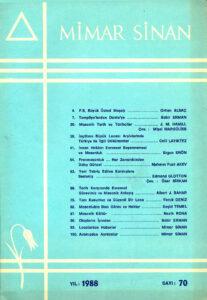 Mimar Sinan Dergisi (70)