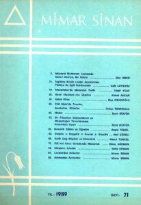 Mimar Sinan Dergisi (71)