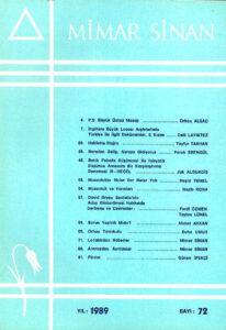 Mimar Sinan Dergisi (72)
