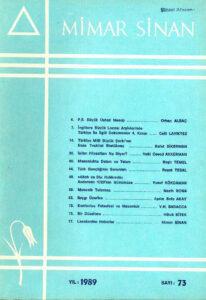 Mimar Sinan Dergisi (73)