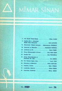 Mimar Sinan Dergisi (74)