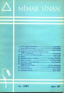 Mimar Sinan Dergisi (81)