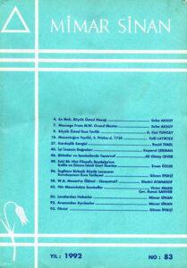 Mimar Sinan Dergisi (83)
