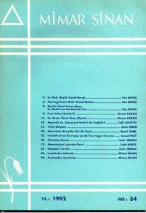 Mimar Sinan Dergisi (84)