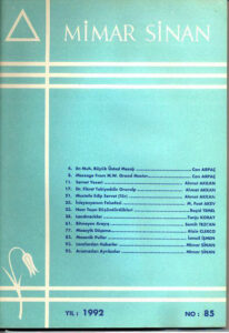 Mimar Sinan Dergisi (85)