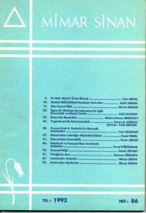 Mimar Sinan Dergisi (86)