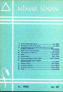 Mimar Sinan Dergisi (87)