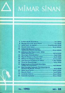 Mimar Sinan Dergisi (88)