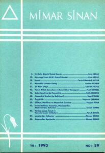 Mimar Sinan Dergisi (89)
