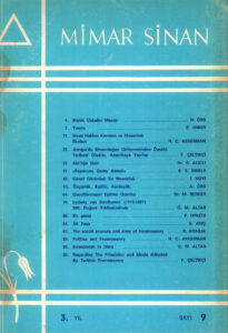 Mimar Sinan Dergisi (9)