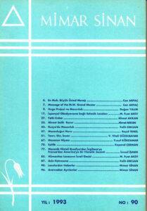 Mimar Sinan Dergisi (90)