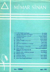 Mimar Sinan Dergisi (91)