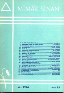Mimar Sinan Dergisi (92)