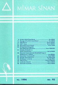 Mimar Sinan Dergisi (93)