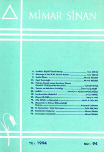 Mimar Sinan Dergisi (94)