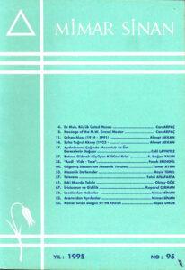 Mimar Sinan Dergisi (95)
