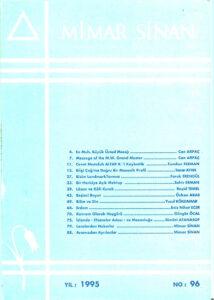 Mimar Sinan Dergisi (96)