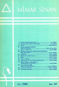 Mimar Sinan Dergisi (97)