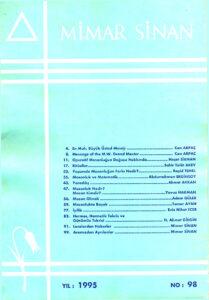 Mimar Sinan Dergisi (98)