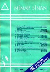 Mimar Sinan dergisi (100)