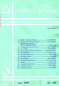 Mimar Sinan dergisi (105)
