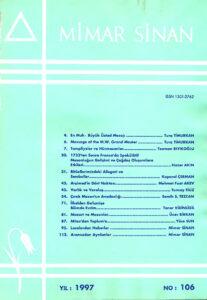 Mimar Sinan dergisi (106)