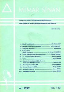 Mimar Sinan dergisi (113)