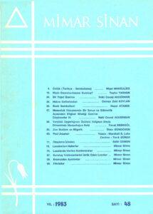 Mimar Sinan dergisi (48)