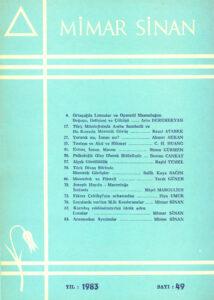 Mimar Sinan dergisi (49)
