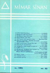 Mimar Sinan dergisi (82)