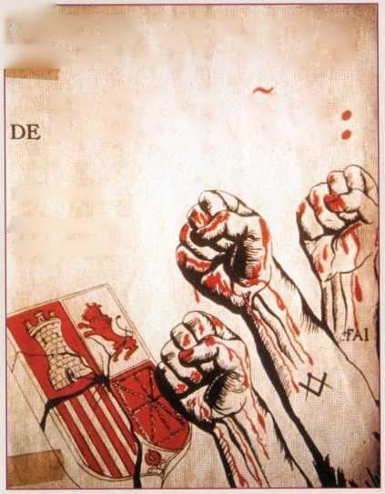 Mauricio Karlin 1933 yılında yayınladığı Ispan¬ya'nın Katilleri kitabının kapağı ve afişi.