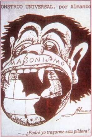 Dünyayı yiyen evrensel canavar: Masonluk. Yayın tarihi: 3 Ağustos 1933.