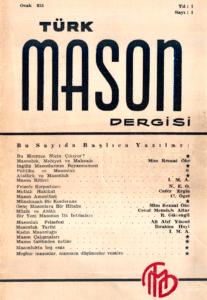 Türk Mason Dergisi Sayı (1)