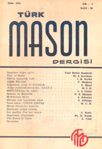 Türk Mason Dergisi Sayı (20)