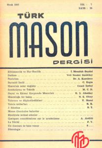 Türk Mason Dergisi Sayı (25)