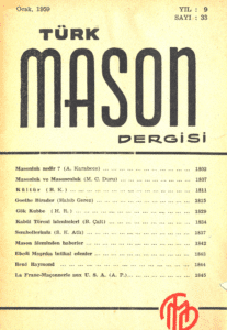 Türk Mason Dergisi Sayı (33)