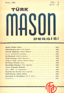 Türk Mason Dergisi Sayı (34)