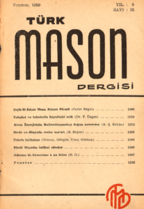 Türk Mason Dergisi Sayı (35)