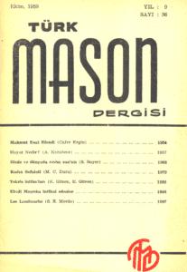 Türk Mason Dergisi Sayı (36)