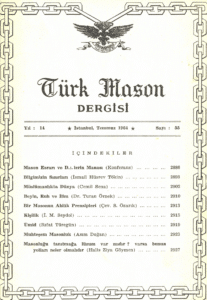 Türk Mason Dergisi Sayı (55)