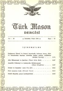 Türk Mason Dergisi Sayı (61)